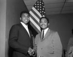 Muhammad Ali and Mervyn Dymally