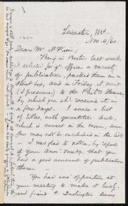 Letter to] Dear Mr. McKim [manuscript