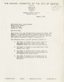 Letter from Kathleen Sullivan, Boston School Committee member, to Marion J. Fahey, Superintendent of Boston Public Schools, 1976 March 2