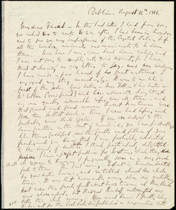Letter from Richard Davis Webb, Dublin, [Ireland], to Anne Warren Weston, August 12th, 1851