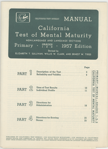 California tests, grades 1-6