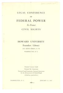 Civil Rights Conference program