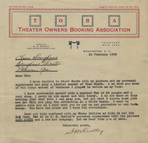 Letter: Washington D.C. to Charles Henry Douglass, Jr., Macon, Georgia, 1926 Feb. 15