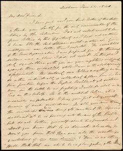 Letter from Edmund Quincy, Dedham, [Mass.], to Caroline Weston, Jan. 21, 1840