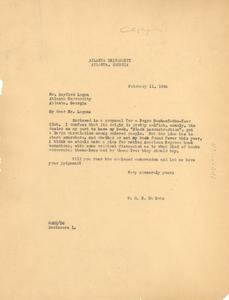 Letter from W. E. B. Du Bois to Rayford Logan