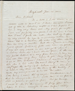 Letter from Anne Warren Weston, Weymouth, [Mass.], to Deborah Weston, Jan. 16, 1842