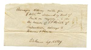 [Note secured by deed of trust on slaves]