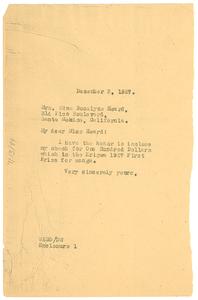 Letter from W. E. B. Du Bois to Edna Rosalyne Heard