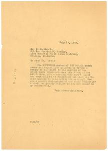 Letter from W. E. B. Du Bois to E. H. Morris