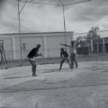 Youngsters playing baseball