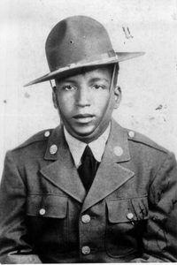 """James H. Alexander. """"A"""" Troop, 10th Cavalry. 2nd Cavalry Division, 1942-1945."""
