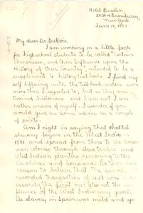 Letter from Helen Boardman to W. E. B. Du Bois