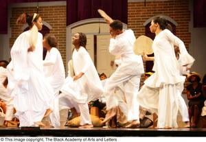 Performers Dancing on Stage Hallelujah Gospel: The Musical