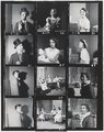 "Contact sheet of black-and-white negatives, publicity photographs and scenes from Young People's Theatre production of ""Seven Little Rebels"" performed at Kingsbury Hall, University of Utah, January 16-17, 1953 [1]"