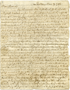 Letter from William Dillwyn to Moses Brown