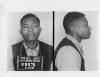 Mississippi State Sovereignty Commission photograph of Joseph Carter following his arrest for his participation in the Freedom Rides, Jackson, Mississippi, 1961 May 24