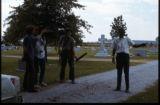 "James ""Son"" Thomas, Pat Thomas, Ray Lum, Joe Cooper, William R. Ferris. Performance at Yale, American Folklife Festival in Washington, D.C., filming life in Leland, Miss., 1974.(Box 10)"