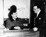 Billie Holiday and Walter Gordon in courtroom