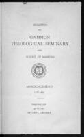 Gammon Theological Seminary and School of Missions Announcements 1932-1933 Annual Catalogue 1931-1932, Vol. XLIX