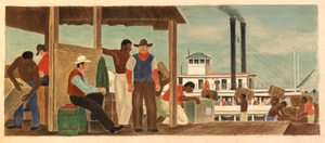 River Packet Ship (mural study, St. Joseph, Mo. Post Office and Courthouse)