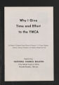 "National Board Files. Reports and Articles: """"Why I Give Time and Effort to the YMCA,"""" by Herbert H. Schwamb, 1960. (Box 2, Folder 21)"