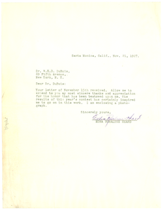 Letter from Edna Rosalyne Heard to W. E. B. Du Bois