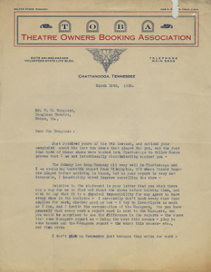 Letter: Chattanooga, Tennessee to Charles Henry Douglass, Jr., Macon, Georgia, 1925 Mar. 10