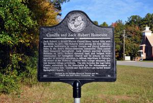 Camilla and Zack Hubert Homesite historical marker