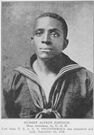 Hubert Alfred Johnson; Mess attendant, 2c, U.S.N.; Lost when U.S.A. C.T. Ticonderoga was torpedoed and sunk September 30, 1918