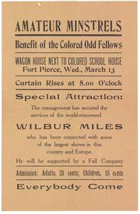 Amateur minstrels show handbill, 1907 February 25