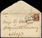 Envelope to Deborah Weston] [manuscript