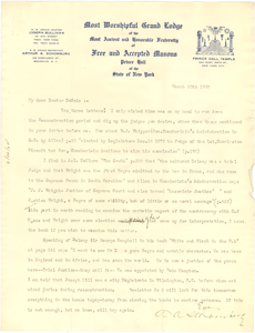 Letter from A. A. Schomburg to W. E. B. Du Bois