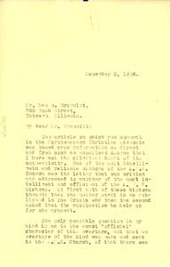 Letter from W. E. B. Du Bois to Dan B. Brummitt