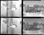 Set of negatives by Clinton Wright of George Ward's class, and traffic director, 1964