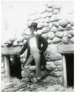 Oscar Frankenstein in costume for a minstrel show?