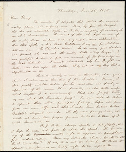 Letter from William Lloyd Garrison, Brooklyn, [Conn.], to Henry Egbert Benson, Jan. 26, 1836