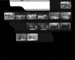 Set of negatives by Clinton Wright including GVT Gilbart, bus to Nellis, A.D.L. at the Dunes, Lodge chapters taken at Doolittle, liquor store, N.S.Y. Party at Lucille Gee's, Men's Progressive League at El Cortez, 1966
