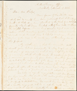 Letter from Elizur Wright, New York, to Amos Augustus Phelps, 1834 March 3