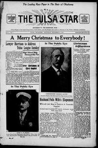 The Tulsa Star (Tulsa, Okla.), Vol. 3, No. 7, Ed. 1, Saturday, December 19, 1914 Tulsa, Okla., Star