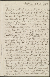 Letter from Richard Davis Webb, Dublin, [Ireland], to Maria Weston Chapman, July 29, 1865