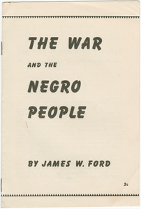 The War and the Negro People