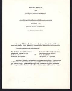 Graduate Record Examinations, printed material