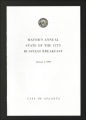 Administrative Records. Atlanta Crime Commission, Economic Development, Mayoral Address, circa 1995. (Box 4, Folder 22)