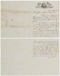 1865 Letter to Maine Legislature from Governor Cony (with enclosures)