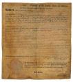 Land grant signed by President John Adams