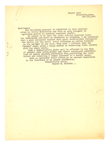 Letter from Foster M. Ricardo to Crisis
