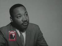 WSB-TV newsfilm clip of Dr. Martin Luther King, Jr. speaking to reporters about the upcoming presidential election and efforts by the Southern Christian Leadership Conference to encourage African Americans to vote, Savannah, Georgia, 1964 October 3