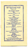 Stephens' Restaurant menu