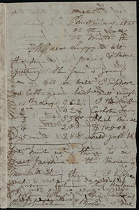 Letter from Maria Weston Chapman, At the hall, 15 Winter St., [Boston], to Elizabeth Bates Chapman Laugel, Christmas 1855