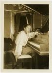 [International Sweethearts of Rhythm, pianist.] [Black-and-white photoprint]